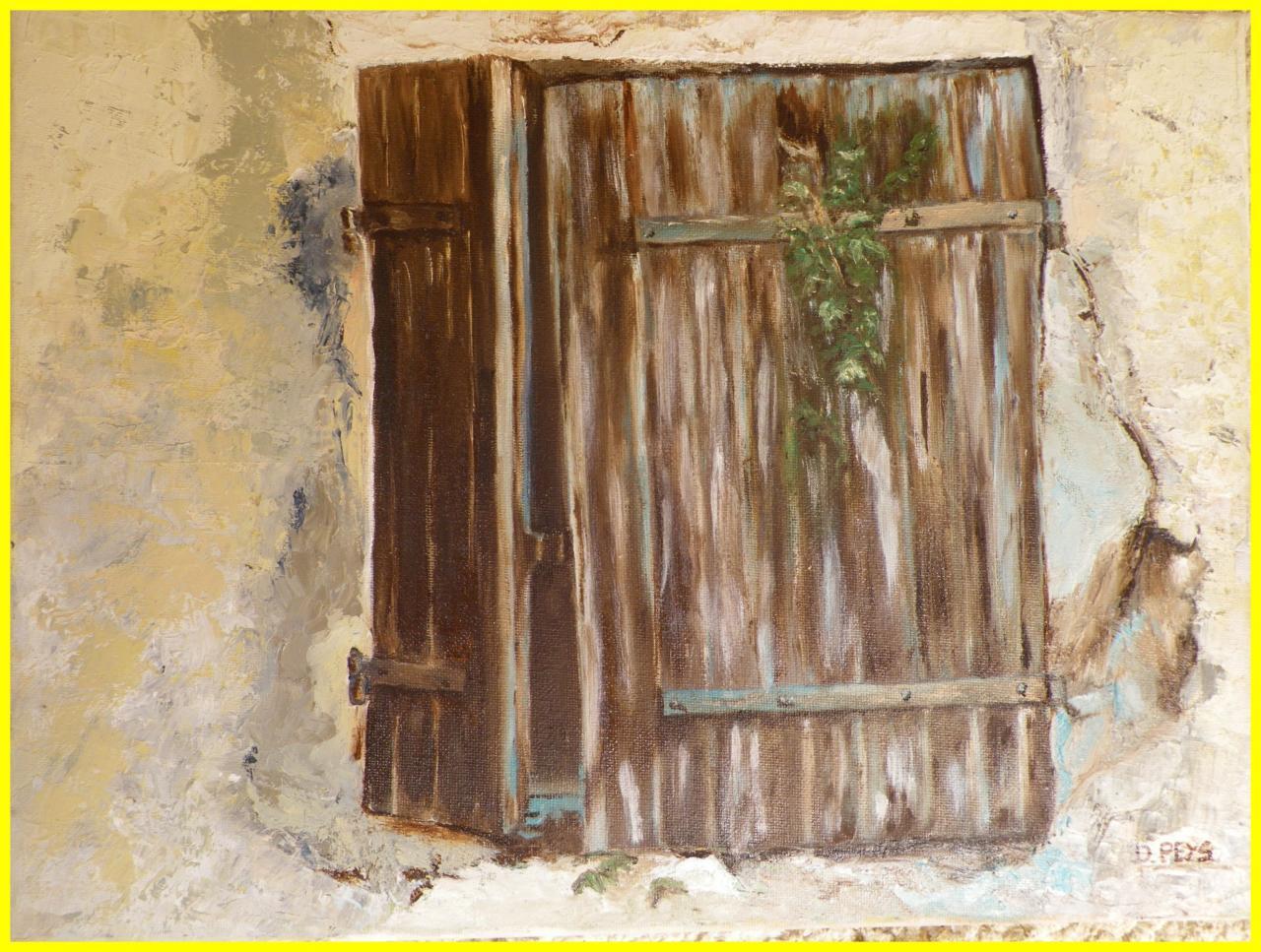 Ancienne fenêtre buanderie